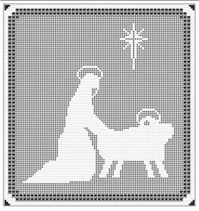 Free Filet Crochet Charts and Patterns: Filet Crochet Nativity Chart 3