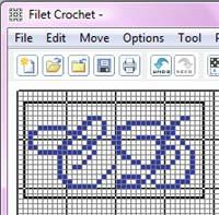 Crochet Designs, Filet Crochet Software Hints and Tips