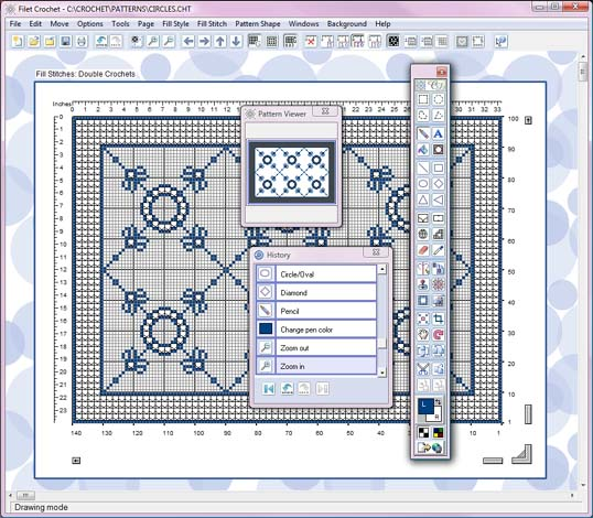 Filet crochet software expanded view of filet crochet software ccuart Choice Image
